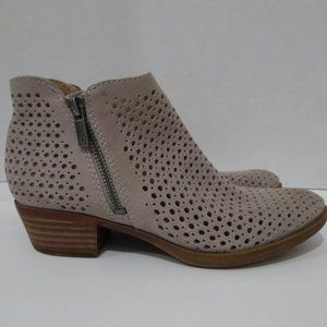 Lucky Brand Bayley perforated ankle booties size 6